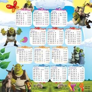 تقویم دیواری کودکانه مدل شـرک-تصویر 2
