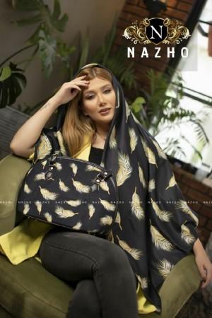 ست کیف و روسری پر طلایی