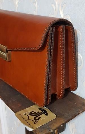 کیف مدارک مردانه ، چرم طبیعی تمام دست دوز-تصویر 2