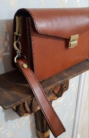 کیف مدارک مردانه ، چرم طبیعی تمام دست دوز-تصویر 3