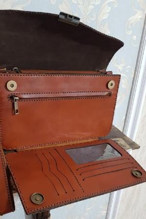 کیف مدارک مردانه ، چرم طبیعی تمام دست دوز-تصویر 4