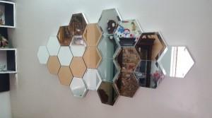 آینه دکور طرح لونه زنبوری-تصویر 2