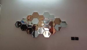آینه دکور طرح لونه زنبوری-تصویر 3