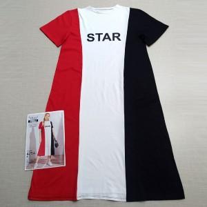 پیراهن یقه گرد آستین کوتاه سه رنگ-تصویر 2