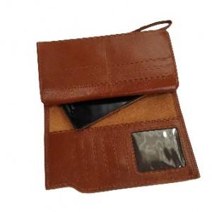کیف پول و موبایل چرم طبیعی گوساله داری بند مچی-تصویر 5