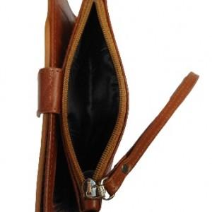کیف پول و موبایل چرم طبیعی گوساله داری بند مچی-تصویر 3