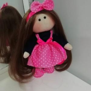 عروسک روسی لباس صورتی-تصویر 3