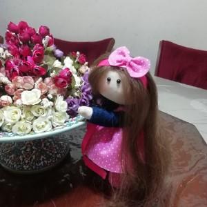 عروسک روسی لباس صورتی-تصویر 5