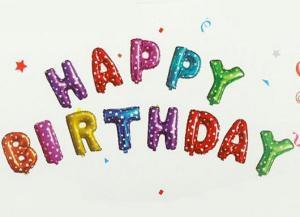 بادکنک فویلی Happy Birthday-تصویر 3