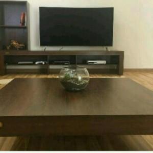 میز تلویزیون شلف جانبی و جلومبلی ZIBASET لالیک