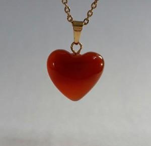 گردنبند عقیق (طرح قلب)