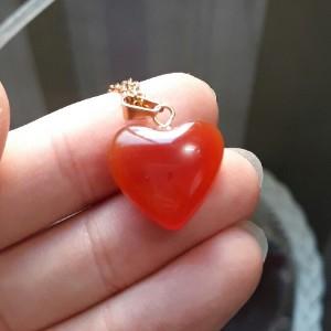 گردنبند عقیق (طرح قلب)-تصویر 2