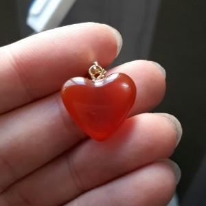 گردنبند عقیق (طرح قلب)-تصویر 3