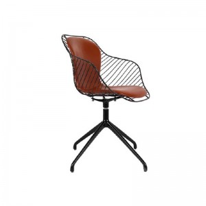 صندلی رستورانی پایه گردان کوره ای مدل فلورنس استیل هامون