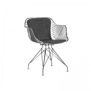 صندلی رستورانی پایه ثابت کروم مدل فلورنس استیل هامون