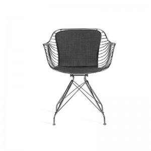 صندلی رستورانی پایه ثابت کروم مدل فلورنس استیل هامون-تصویر 2