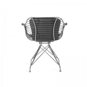 صندلی رستورانی پایه ثابت کروم مدل فلورنس استیل هامون-تصویر 3