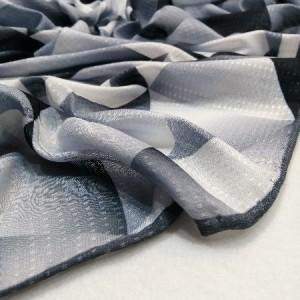 روسری نخ ابریشم دست دوز زنانه طرح هندسی 8-تصویر 3