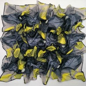 روسری نخ ابریشم دست دوز زنانه طرح هندسی 6-تصویر 2