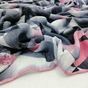 روسری نخ ابریشم دست دوز زنانه طرح هندسی2-تصویر 3