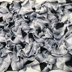 روسری نخ ابریشم دست دوز زنانه طرح هندسی 8-تصویر 2