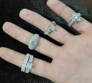 انگشتر نقره میکرو,طرح جواهر-تصویر 2