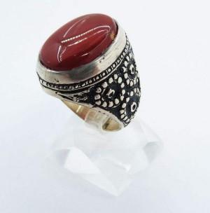 انگشتر نقره مردانه کد A1518-تصویر 3