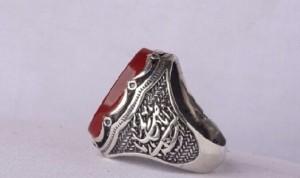 انگشتر عقیق سرخ خطی منقش به  یا زینب(س)-تصویر 3