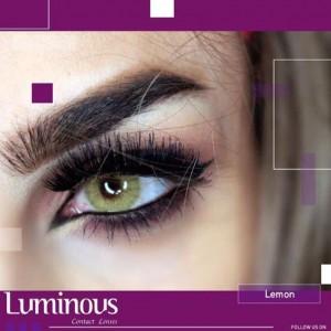 لنز رنگی سالیانه لومینوس رنگ لیمویی lemon-تصویر 2