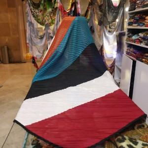 روسری پلیسه چند رنگ-تصویر 4