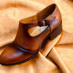 ست کیف و کفش چرم اصل گاوی زنانه-تصویر 2