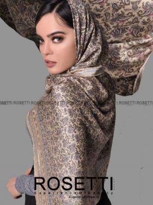 روسری ابریشم دوردست دوز قواره۱۲۰-تصویر 2