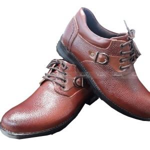 کفش چرم فلوتر عسلی تیره