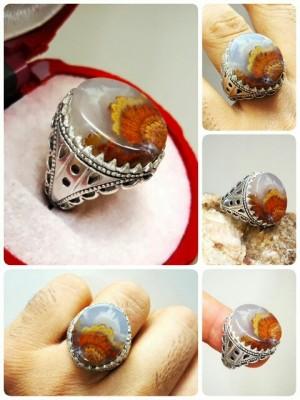انگشتر نقره شجر دریایی زیبا-تصویر 2