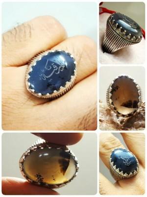 انگشتر نقره شجر اصلی حکاکی شده-تصویر 2