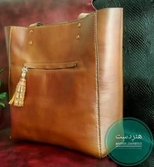 کیف چرم طبیعی دوشی زنانه-تصویر 2