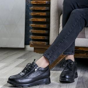 کفش تخت زیره پیو پختی چرم دولایه عالیBa-تصویر 3