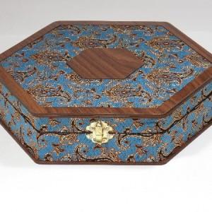 جعبه آجیل و خشکبار جعبه پذیرایی جعبه چوبی مدل ترمه کد LB013-تصویر 5
