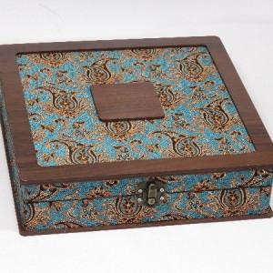 جعبه آجیل و خشکبار جعبه پذیرایی جعبه چوبی مدل ترمه  کد LB014-تصویر 3