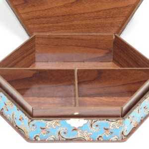 جعبه آجیل و خشکبار جعبه پذیرایی جعبه چوبی مدل ترمه کد LB013-تصویر 4