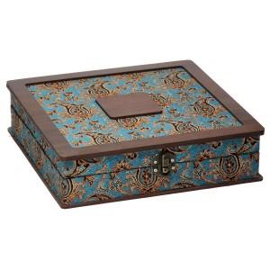 جعبه آجیل و خشکبار جعبه پذیرایی جعبه چوبی مدل ترمه  کد LB014
