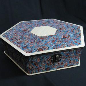جعبه آجیل و خشکبار جعبه پذیرایی جعبه چوبی مدل ترمه کد LB013-تصویر 2