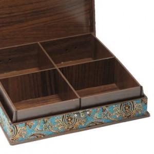 جعبه آجیل و خشکبار جعبه پذیرایی جعبه چوبی مدل ترمه  کد LB014-تصویر 2