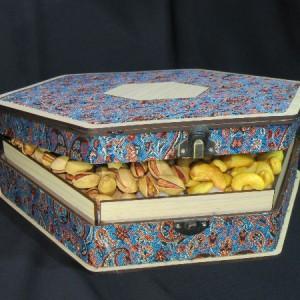 جعبه آجیل و خشکبار جعبه پذیرایی جعبه چوبی مدل ترمه کد LB013