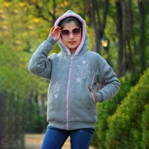 سوئیشرت خزدار دخترانه ستاره-تصویر 2