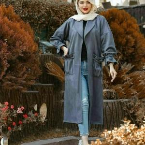 پالتو زنانه جلو باز جیب دار