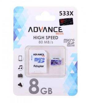 کارت حافظه Advance U1 microSDHC533X-8GB