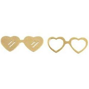 گوشواره عینک ( ۷۵۰ سوت ) طلا ۱۸ عیار