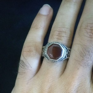 انگشتر عقیق سرخ یمانی-تصویر 4