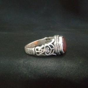 انگشتر عقیق سرخ یمانی-تصویر 3